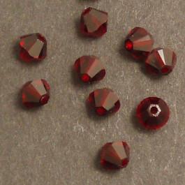 Swarovski® 4mm Siam Bicone Xilion Cut Beads (Pack of 10)