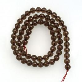 Smoky Quartz 6mm Round Beads