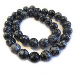 Snowflake Obsidian 10mm Round Beads