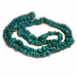 Stabilised Turquoise 5mm Chip Beads