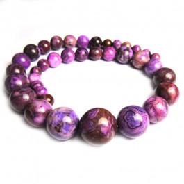 Sugilite Jasper Graduated Round Beads