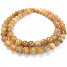 Sunstone 6mm Round Beads