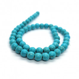 Synthetic Turquoise 8mm Round Beads