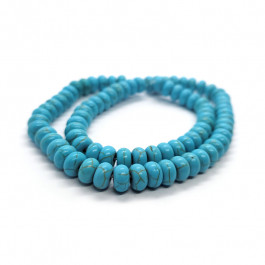 Synthetic Turquoise 5x8mm Rondelle Beads