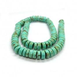 Synthetic Turquoise 4x10mm Wheel Beads