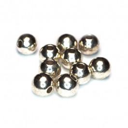 Tibetan Silver Plain 8mm Beads