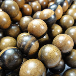 Kamagong (Tiger Ebony) 12mm Round Wood Beads