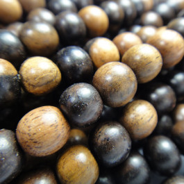 Kamagong (Tiger Ebony) 6mm Round Wood Beads