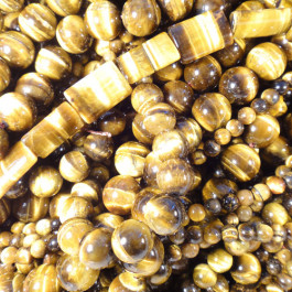 Tiger Eye 10x14mm Pillow Beads