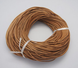 Peru Brown Cowhide Leather Cord 1mm Round 10M Roll