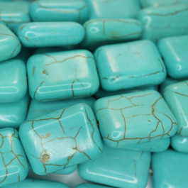 Reconstituted Turquoise 20x15mm Rectangle Beads