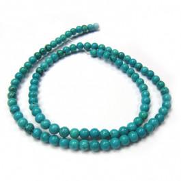 Stabilised Turquoise 4mm Round Beads