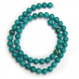 Stabilised Turquoise 8mm Round Beads