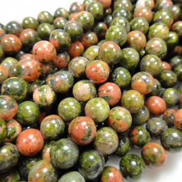 Unakite 6mm Round Beads