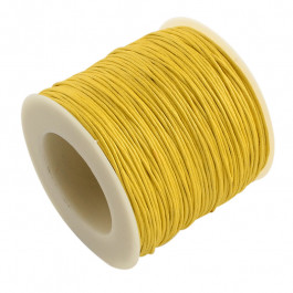 Yellow Waxed Cotton Cord 1mm 90M Roll