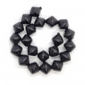 Dyed Black Wood 20x20mm Saucer Beads