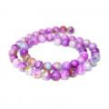 Dyed Jade Purple Multicolour 8mm Round Beads