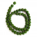 Dyed Lava Rock Green 8mm Round Beads