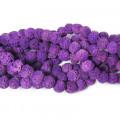 Dyed Burnt Purple Rock Beads 8mm