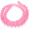 Malay Jade Rose Pink 8mm Round Beads