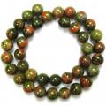 Unakite 10mm Round Beads