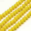 Yellow 6x4mm Faceted Abacus Glass Beads