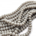Gray 6x4mm Faceted Abacus Glass Beads
