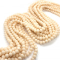 Bisque 6x4mm Faceted Abacus Glass Beads