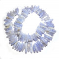 Blue Lace Agate Center Drilled Long Chip Beads