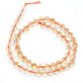 Citrine 7mm 128 Faceted Round Beads