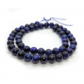 Dyed Blue Tiger Eye 8mm Round Beads