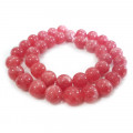 Malay Jade Dark Pink 10mm Round Beads