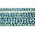 Matte Green Hematite 4x4mm Diamond Cut Beads