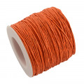 Orange Waxed Cotton Cord 1mm 90M Roll