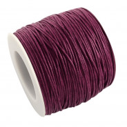 Purple Waxed Cotton Cord 1mm 90M Roll