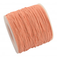 Peach Waxed Cotton Cord 1mm 90M Roll