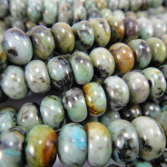 African Turquoise Rondelles 5x8mm Beads