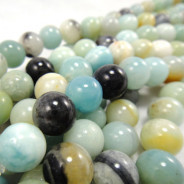 Multicolour Amazonite 10mm Round Beads