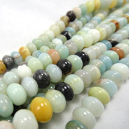 Multicolour Amazonite Rondelle Beads
