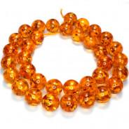 Imitation Amber 12mm Round Beads