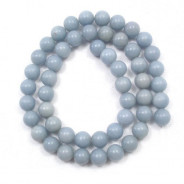 Angelite 8mm Round Beads
