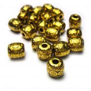 Tibetan Style Antique Gold 6mm Bead (Pack 20)