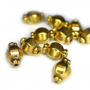 Tibetan Style Antique Gold 7x10mm Beads (Pack 10)
