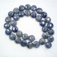 Blue Aventurine 12mm Coin Beads
