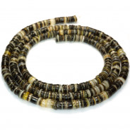 4-5mm Black Lip Shell Heishi Beads