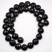 Black Onyx 12mm Coin Beads