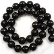 Black Onyx 12mm Round Beads