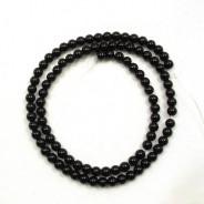 Black Onyx 4mm Round Beads