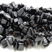Black Onyx Large Chip Beads
