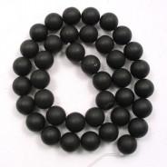 Black Stone (Matte) 10mm Round Beads
